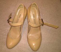 Buffalo Strapped pumps nude-beige leather