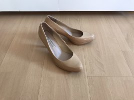 Buffalo Lackleder Pumps Beige Must Have
