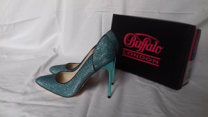 "Buffalo London ""Glitter Blue"" High Heels"