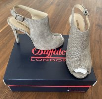 Buffalo London High Heel Snake old Taube / silver