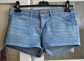 Buffalo London Short bleu azur coton
