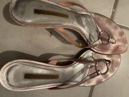 Buffalo London Sandalo toe-post rosa pallido Pelle