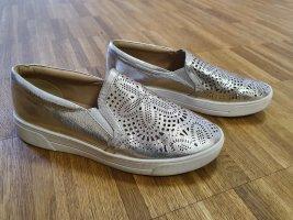Buffalo schuhe gr. 38 slipper silber weiß top Zustand