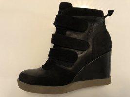 Buffalo Sneaker Wedges Plateau Echtleder schwarz 39