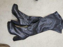 Buffalo Wysokie buty na obcasie czarny