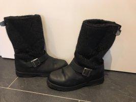 Buffalo London Futrzane buty czarny-czerwony