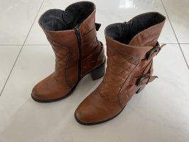 Buffalo Western Booties brown-cognac-coloured