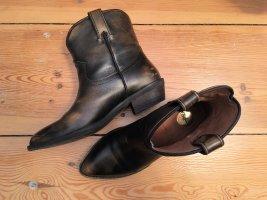 Buffalo Western Booties brown leather