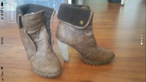 Buffalo High Heel Boots brown-black brown