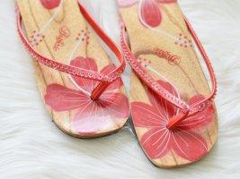 Buffalo Toe-Post sandals multicolored