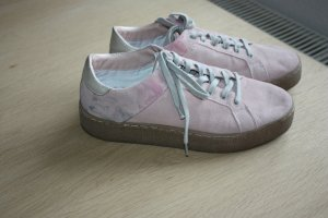Bugatti Lace-Up Sneaker pink suede