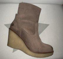 Bullboxer Boots - Gefüttert - Keilabsatz - Leder - Neu - NP 183€