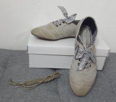 Bullboxer Damen Slipper Schnürschuhe Ballerinas Vintage Look Größe 38 NEU