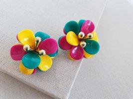 Retro Ohrclips Clip d'oreille multicolore