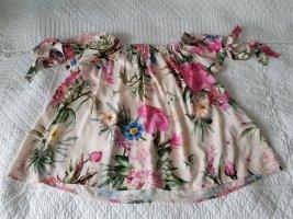 Aust Blusa tipo Carmen multicolor