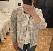 Bunte Flower Jeans Jacke Zara