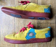 Bunte Leder Sneaker Neu + Anti-Shock- Sohle