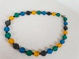 Retro Kette Collier de perles multicolore