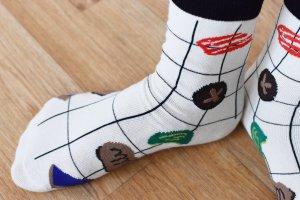 Fun socks Skater Shoes white-black