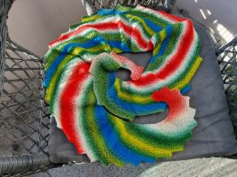 handmade unikat Sciarpa di lana multicolore Lana