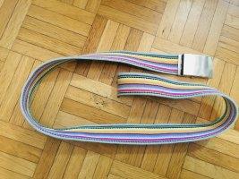 Bunter Gürtel Regenbogen 96cm lang, 4cm breit