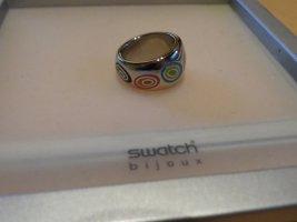 Bunter Ring von swatch Größe 7