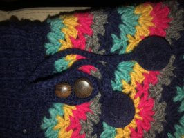Falda de lana multicolor