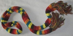 Bufanda de ganchillo multicolor Acrílico