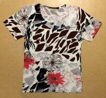 buntes Shirt mit Blumenmotiv, kurzärmlig, Gr. S