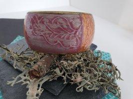 Buntes Statement Armband Orange Rosa Pink Blumen Schmuck