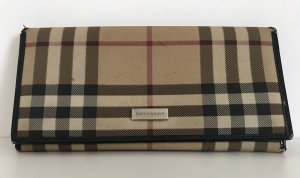 Burberry Brieftasche, Portemonnaie, Canvas, Check-Design