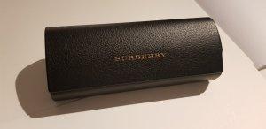 Burberry Ronde zonnebril zwart-zandig bruin