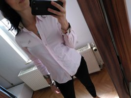 Burberry Camisa de manga larga rosa
