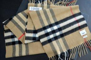 Burberry Bufanda de flecos negro-beige Cachemir