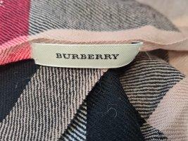 Burberry cashmere Schal / Tuch mit Echten Hasenfell