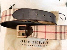 Burberry Cintura di pelle marrone-marrone chiaro Pelle