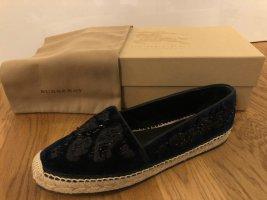 Burberry Slip-on Shoes dark blue