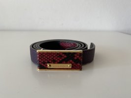 Burberry Leather Belt raspberry-red-black leather