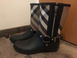 Burberry Botas de agua negro-marrón