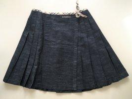 Burberry Plaid Skirt dark blue-black cotton