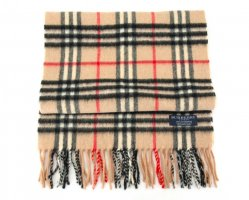 Burberry Knitted Scarf beige cotton