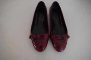 Burberry Shoes bordeaux-carmine leather