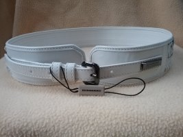 Burberry Leather Belt natural white