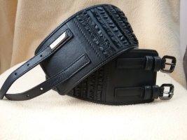 Burberry Lederen riem zwart