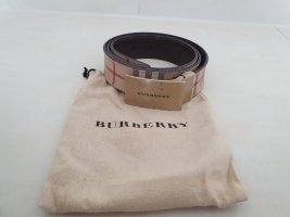 Burberry Leather Belt beige leather