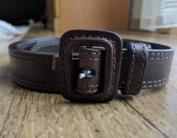 Burberry Leather Belt brown-cognac-coloured leather