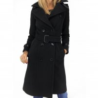Burberry Trench Coat black wool