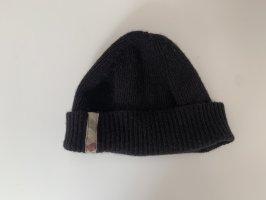 Burberry Chapeau en tissu noir