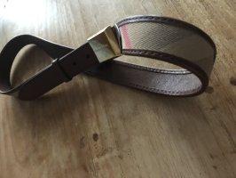 Burberry Cintura di pelle marrone Pelle