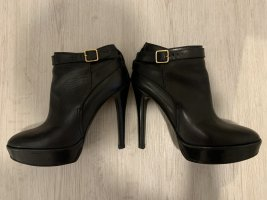 Burberry Platform Booties black leather
